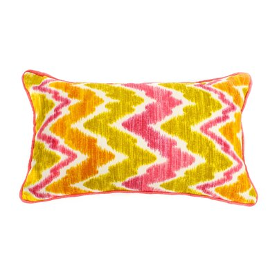 Scissors Outdoor Lumbar Pillow Size: 12 H x 20 W, Fabric: Pink