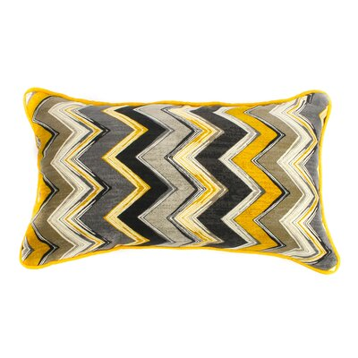 Static Outdoor Lumbar Pillow Fabric: Yellow, Size: 20 H x 20 W