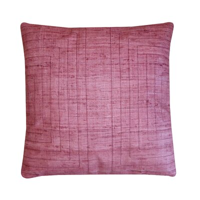 Streams Silk Throw Pillow Color: Blush