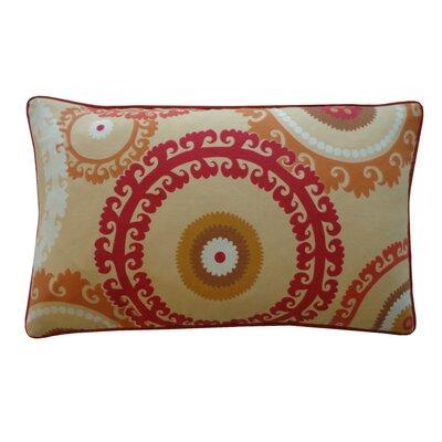 Buttons Outdoor Lumbar Pillow Color: Orange
