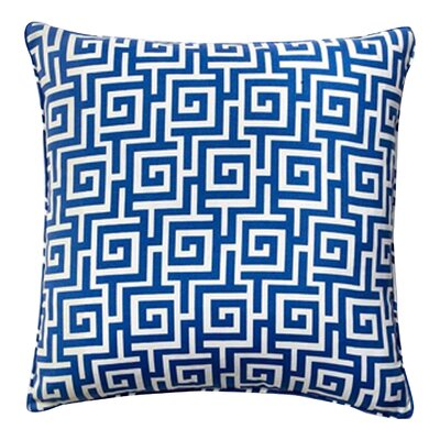 Puzzle Indoor/Outdoor Throw Pillow Color: Blue