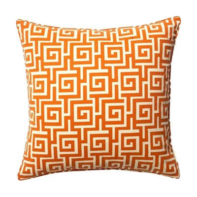 Puzzle Indoor/Outdoor Throw Pillow Color: Orange