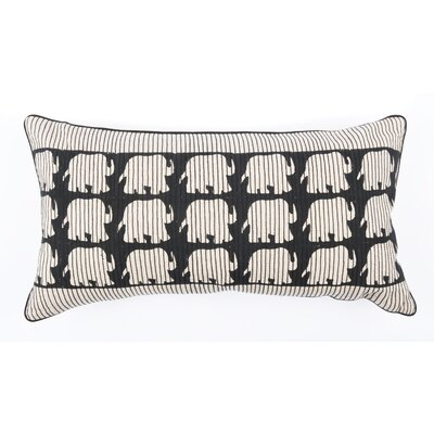 Elephant Stitches Cotton Lumbar Pillow