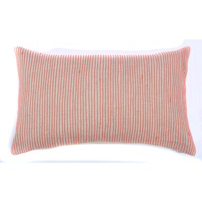 Neon Lines Cotton Lumbar Pillow Color: Orange