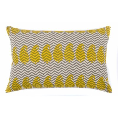Paisley Zig Zag Cotton Throw Pillow