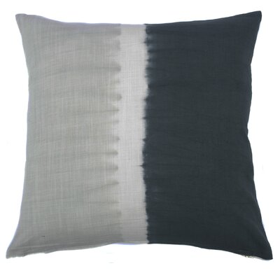 Tie Dye Bands Cotton Throw Pillow Color: Charcoal