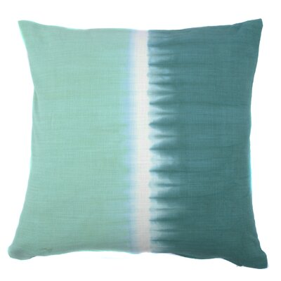 Tie Dye Bands Cotton Throw Pillow Color: Green