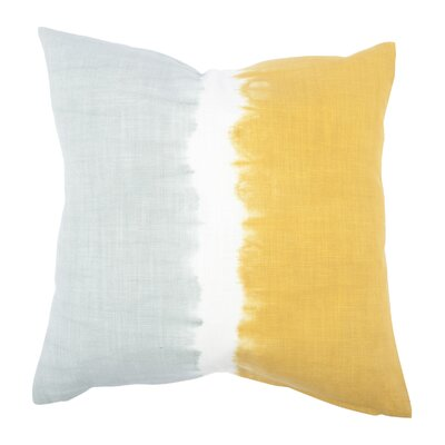 Tie Dye Bands Cotton Throw Pillow Color: Mustard