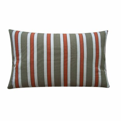 Funstripes Linen Lumbar Pillow Color: Red, Size: 12 x 20