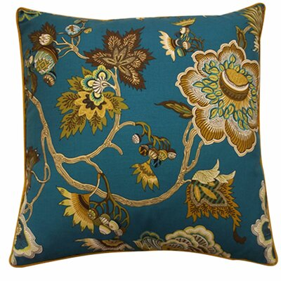 Jazmine Linen Throw Pillow Color: Jade, Size: 20 x 20