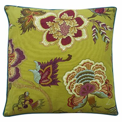 Jazmine Linen Throw Pillow Color: Plum, Size: 20 x 20