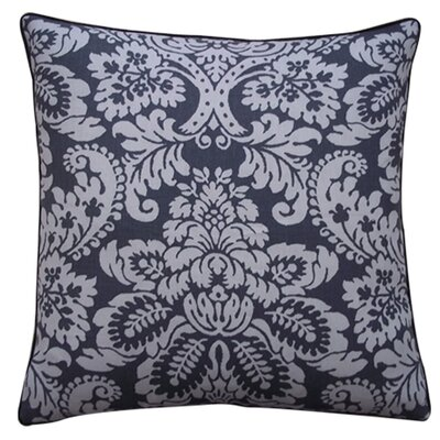 Hibiscus Linen Throw Pillow Size: 20 x 20, Color: Pewter