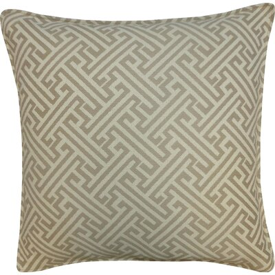 Wave Maze Outdoor Throw Pillow Color: Taupe
