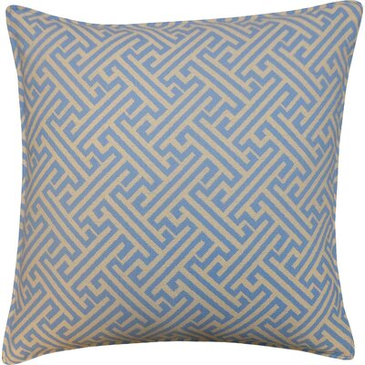Wave Maze Outdoor Throw Pillow Color: Blue