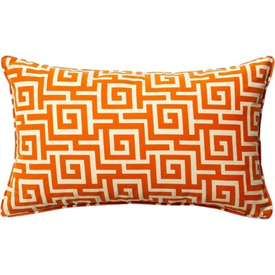 Puzzle Outdoor Lumbar Pillow Color: Orange