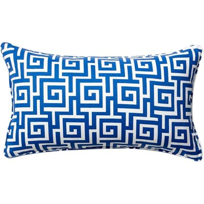 Puzzle Outdoor Lumbar Pillow Color: Blue