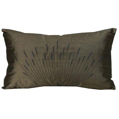 Branches Silk Lumbar Pillow Color: Light Brown