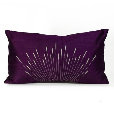 Branches Silk Lumbar Pillow Color: Purple