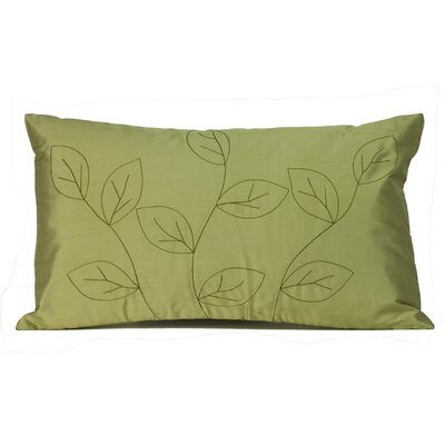 Leaves Silk Lumbar Pillow