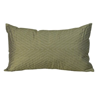 V Silk Lumbar Pillow Color: Taupe