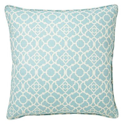 Moroccan Indoor/Outdoor Throw Pillow Color: Blue