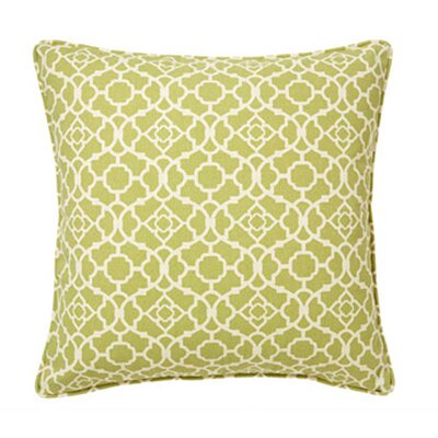 Moroccan Indoor/Outdoor Throw Pillow Color: Green