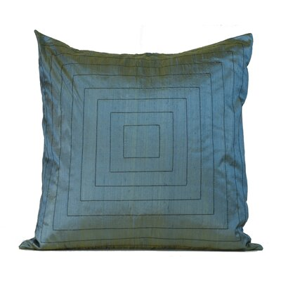 Pyramide Silk Throw Pillow Color: Aqua