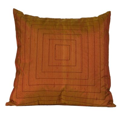 Pyramide Silk Throw Pillow Color: Orange