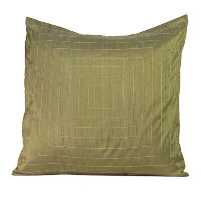 Pyramide Silk Throw Pillow Color: Taupe