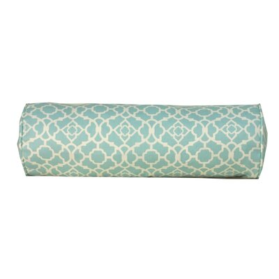 Moroccan Indoor/Outdoor Bolster Pillow Color: Blue