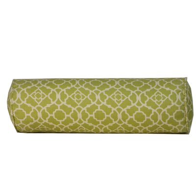 Moroccan Indoor/Outdoor Bolster Pillow Color: Green