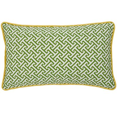 Maze Cotton Lumbar Pillow Color: Green and Yellow