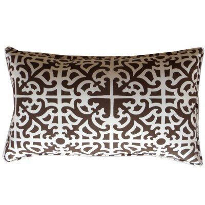Malibu Indoor/Outdoor Lumbar Pillow Color: Brown