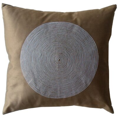 Spiral Silk Decorative Throw Pillow Color: Brown