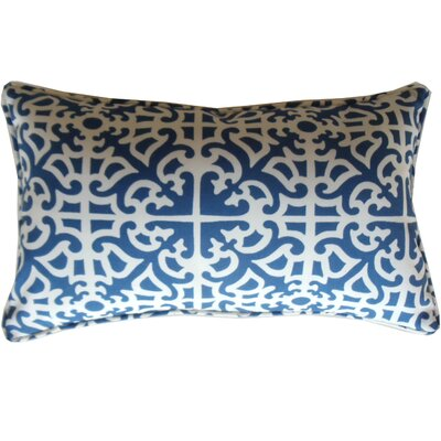 Malibu Indoor/Outdoor Lumbar Pillow Color: Blue