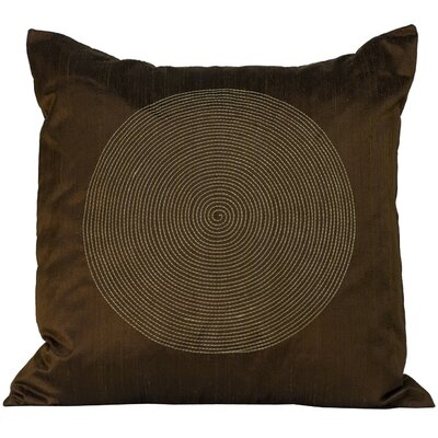 Spiral Silk Decorative Throw Pillow Color: Chocolate