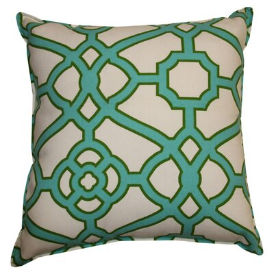 Stacey Indoor/Outdoor Throw Pillow Color: Green