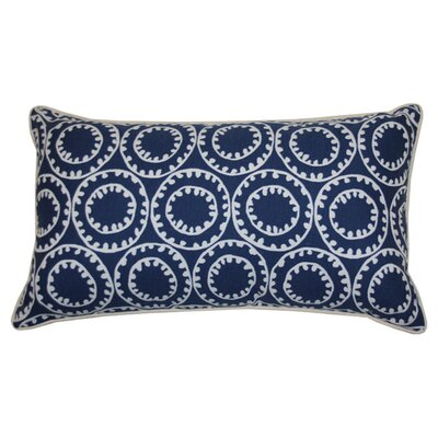 Sophia Indoor/Outdoor Lumbar Pillow Color: Navy