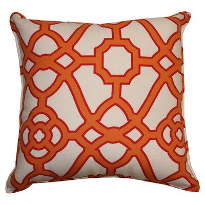 Stacey Indoor/Outdoor Throw Pillow Color: Orange