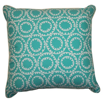 Sophia Indoor/Outdoor Throw Pillow Color: Turquoise