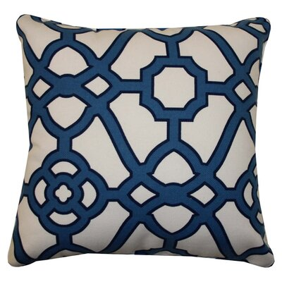 Stacey Indoor/Outdoor Throw Pillow Color: Blue
