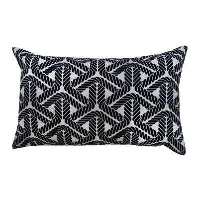 Rope Lumbar Pillow Color: Black
