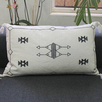 Cactus Kilim Linen Lumbar Pillow