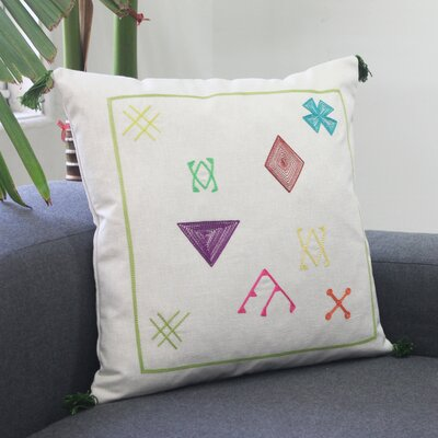 Cactus Kilim 100% Cotton Throw Pillow