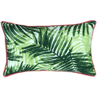 Miami Outdoor Lumbar Pillow Color: Green/Pink