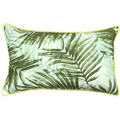 Miami Outdoor Lumbar Pillow Color: Light Green/Yellow