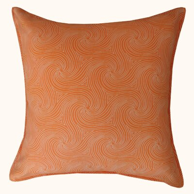 Swirl Outdoor Throw Pillow Color: Orange