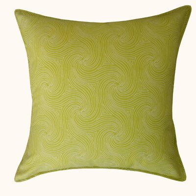 Swirl Outdoor Throw Pillow Color: Green