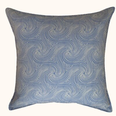 Swirl Outdoor Throw Pillow Color: Blue