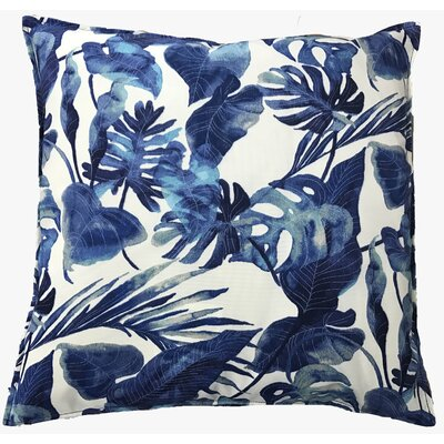 Fidelia Outdoor Throw Pillow Color: Blue